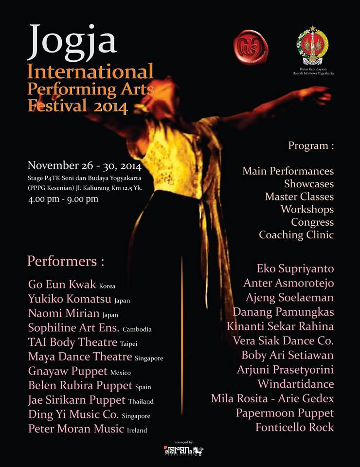 Jogja international performing art 2014