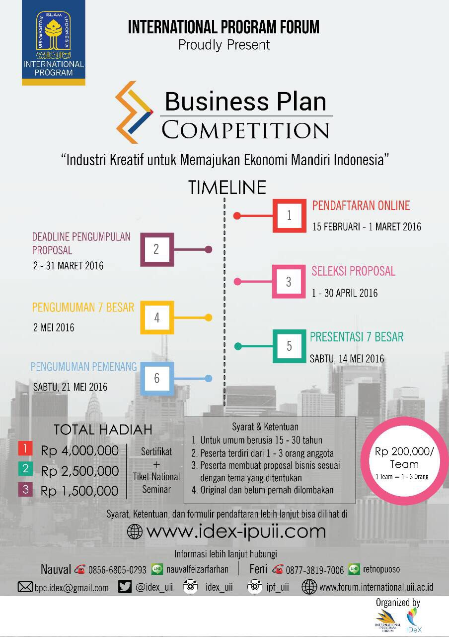 The 100,000 Dollars Business Plan Competition Kick-Off Event