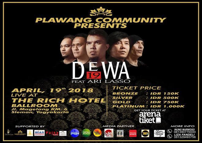 Dewa 19 Feat Ari Lasso Plawangan Community Pressent Jogja