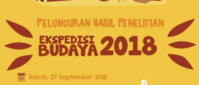 Grand Lauching Ekspedisi Budaya 2018