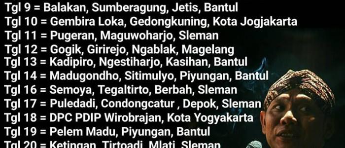 Jadwal Wayang Kulit Ki Seno Nugroho