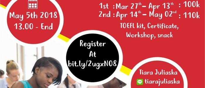 TOEFL PBT and Wokrshop by International Community