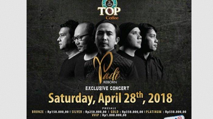 Permalink to Konser Padi Reborn Eksklusif di Taman Budaya Yogyakarta , 28 April