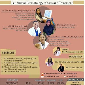 "Permalink to SEMINAR NASIONAL 2019 ""Pet Animal Dermatology : Cases and Treatment"""
