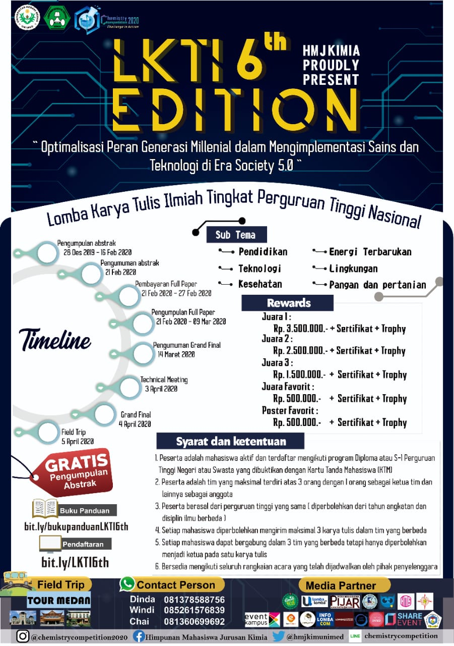 LKTI 6th EDITION CHEMISTRY COMPETITION 2020
